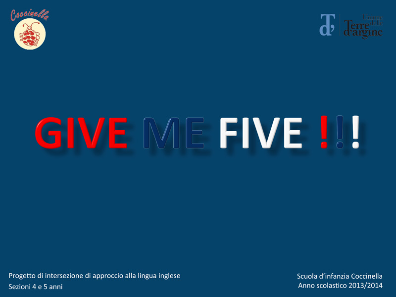 progetto di inglese give me five